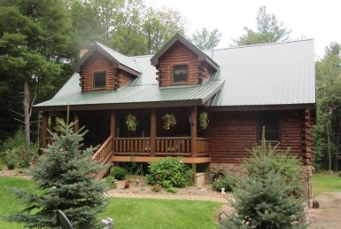 80 acres Magnificent Log Home in Williamstown NY