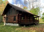 One of Kind 1,700 SqFt Hand-Hewn Log Home For Sale In Lee, NY!