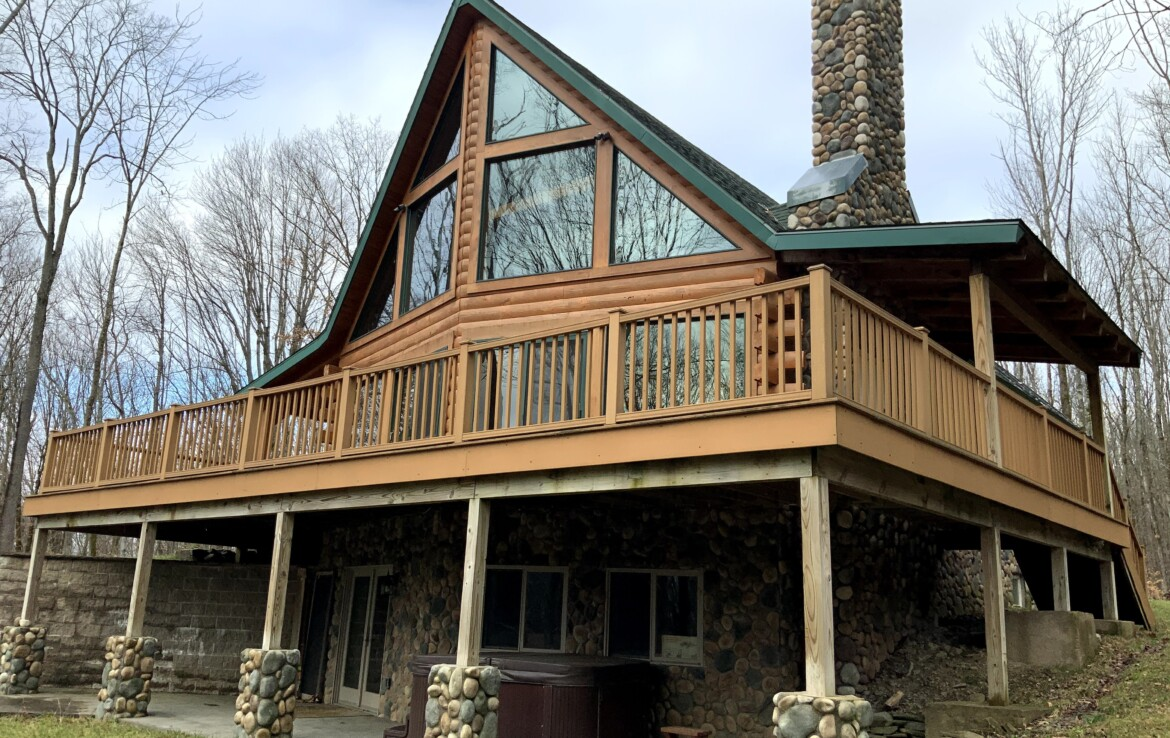 15 acres with 1,772 Sq Ft Log Home for Sale Near Salmon River in Orwell, NY!