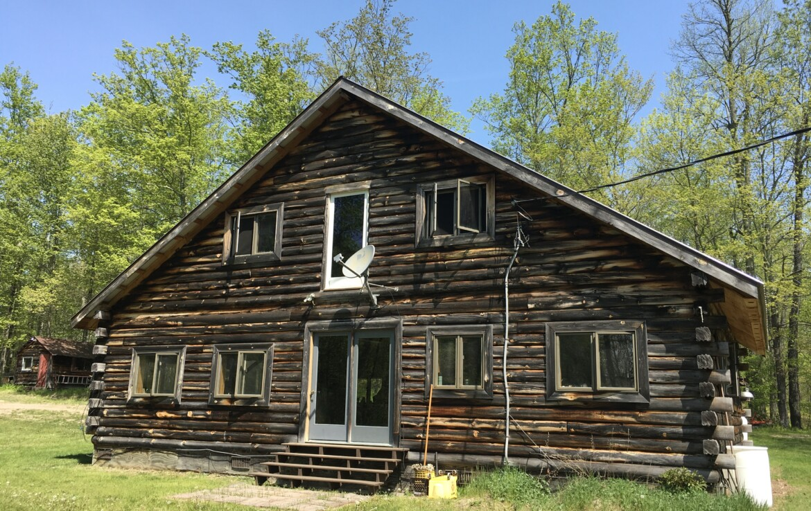 53 acre Adirondack Land for Sale with Year-Round Log Cabin, Clare, NY!